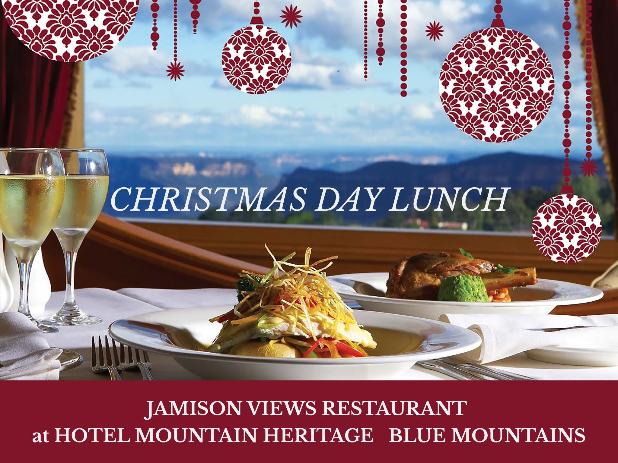 Christmas Day Lunch Hotel Mountain Heritage - Foster Accommodation
