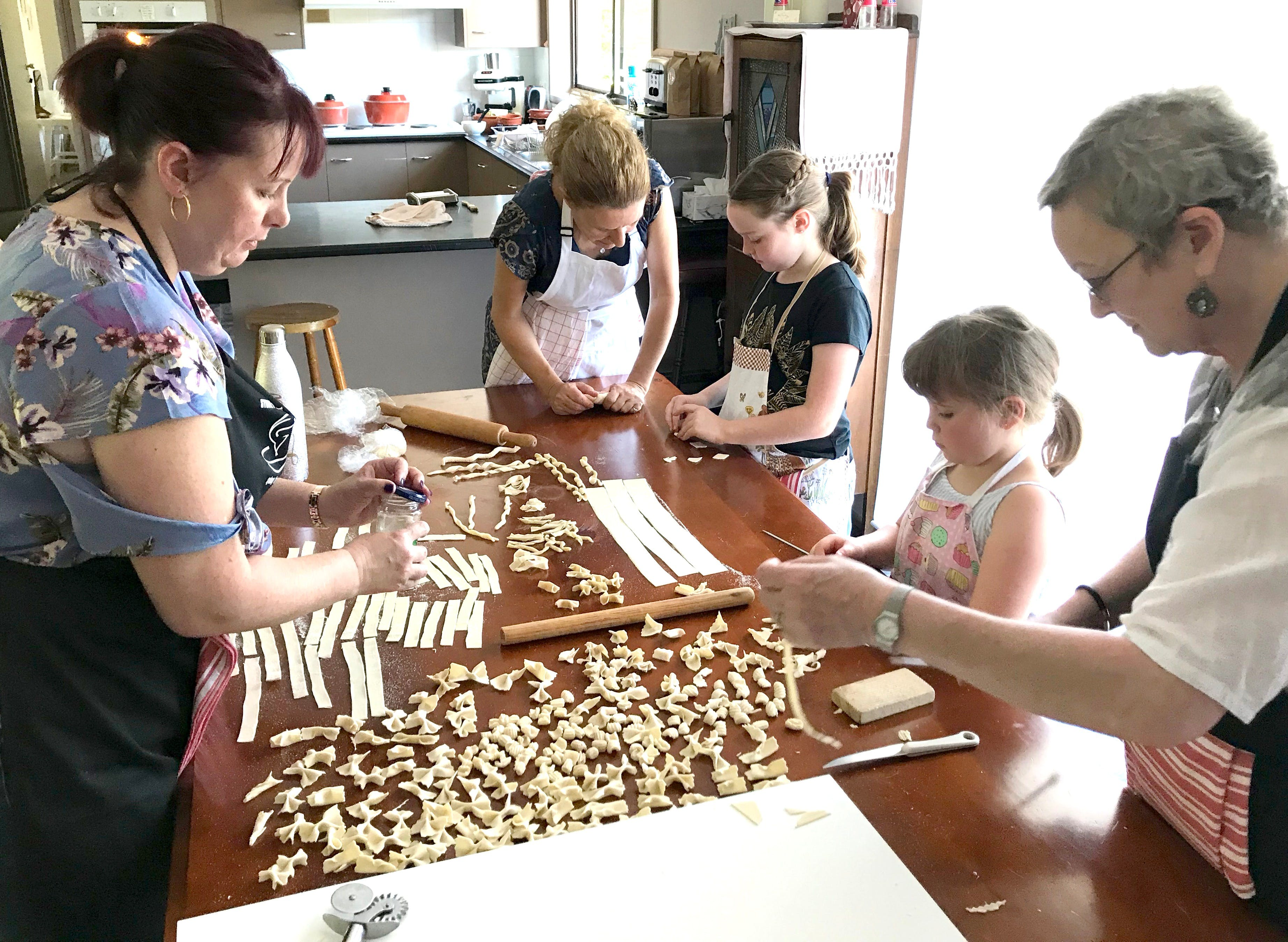 Kids Pasta Making Class - hands on fun at your house - Foster Accommodation